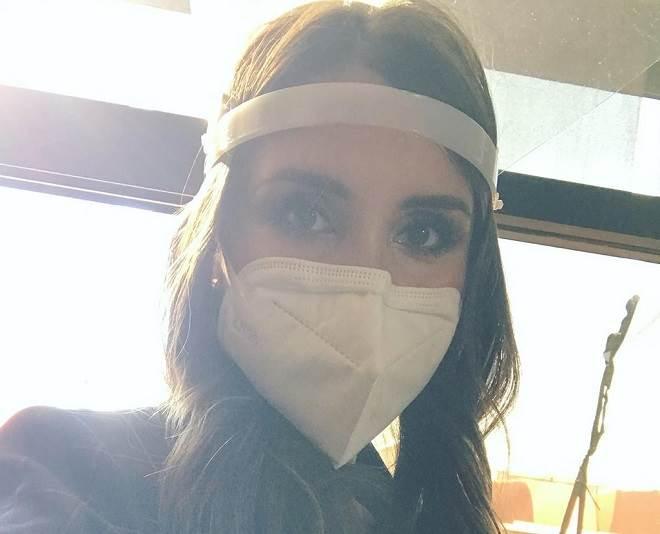 Grávida, Dulce Maria volta ao trabalho em meio à pandemia